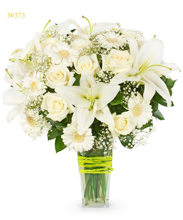 Фото букет белых цветов