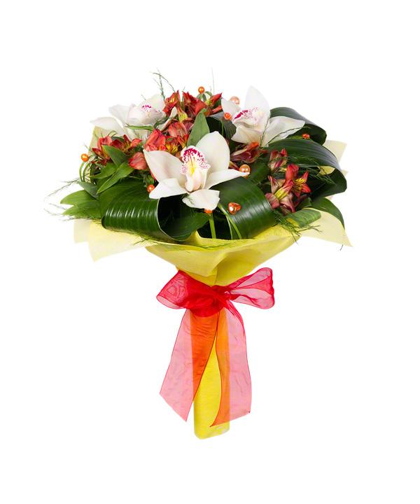 """Букет """"Орхидеи в красном"""" от MEGAFLOWERS"""