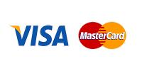 Картой VISA и MasterCard