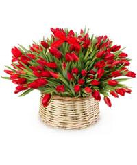 """Букет из цветов в корзине """"Кармен-сюита"""" с доставкой по Белгороду"""