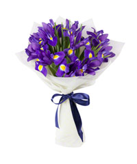 "Bouquet from цветов ""Heavenly Irises"" with delivery in Rostov-on-Don 18 - 35 см."