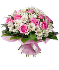 "Bouquet from цветов ""Entr'acte"" with delivery in Novosibirsk 35 - 35 см."