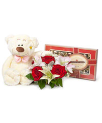 "Bouquet from цветов ""Teddy Bear"" with delivery in Rostov-on-Don 15 - 12 см."