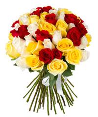 """Огромный букет из роз """"Монпансье"""" с доставкой по Тюмени"""