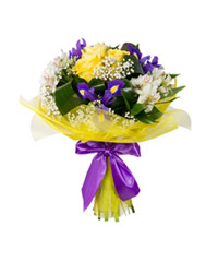 "Bouquet from цветов ""Trio"" with delivery in Novosibirsk 20 - 35 см."