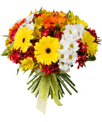 "Bouquet from цветов ""Fountain of Colour"" with delivery in Rostov-on-Don 45 - 30 см."