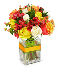 "Bouquet from цветов ""Summer's Greeting"" with delivery in Novosibirsk 20 - 25 см."