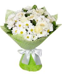 """Букет из цветов """"Белое облако"""" с доставкой по Новосибирску"""