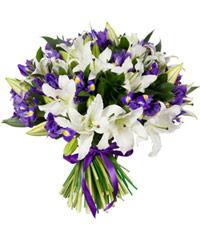"""Букет из цветов """"Синеглазка"""" с доставкой по Туле"""