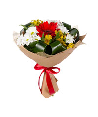 "Bouquet from цветов ""Joyful"" with delivery in Novosibirsk 15 - 30 см."