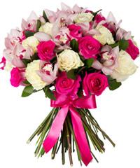 """Букет из розовых роз """"Само совершенство"""" с доставкой по Белгороду"""