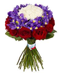 """Букет из цветов """"Патриотический"""" с доставкой по Туле"""