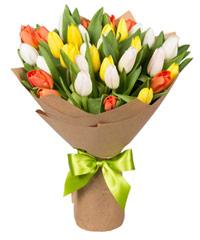 """Композиция """"Весенние тюльпаны"""" с доставкой по Тюмени"""