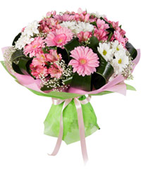 "Bouquet from цветов ""Pink Cheeks"" with delivery in Novosibirsk 35 - 35 см."