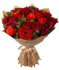 "Bouquet from цветов ""Velvet Sunset"" with delivery in Novosibirsk 30 - 50 см."