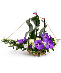 "Bouquet from цветов ""Frigate "" with delivery in Novosibirsk 40 - 45 см."