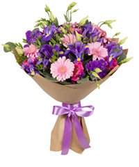 "Bouquet from цветов ""Evening Lake"" with delivery in Novosibirsk 40 - 35 см."