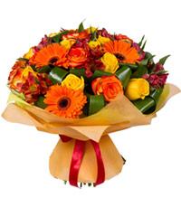 """Букет из цветов """"Осеннее рондо"""" с доставкой по Новосибирску"""