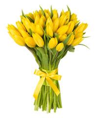 """Огромный букет из тюльпанов """"Счастье есть!"""" с доставкой по Белгороду"""
