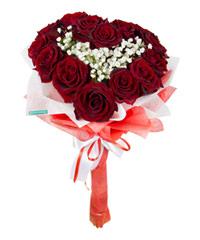 """Сердце из роз """"Всегда ваш…"""" с доставкой по Новосибирску"""