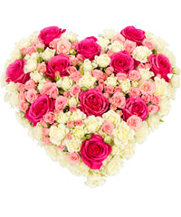 "Bouquet from цветов ""The Serenade of Pink Roses "" with delivery in Novosibirsk 25 - 10 см."
