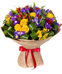 """Букет из цветов """"Голубые огоньки"""" с доставкой по Краснодару 40 - 35 см."""