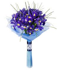 """Букет из цветов """"Рапсодия в стиле блюз"""" с доставкой по Калининграду 25 - 40 см."""