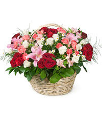 "Bouquet from цветов ""1001 Nights"" with delivery in Novosibirsk 60 - 45 см."