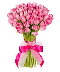 """Огромный букет из тюльпанов """"Розовая дымка"""" с доставкой по Белгороду"""