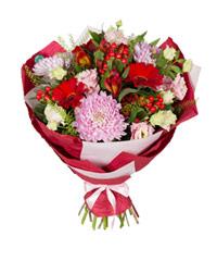 """Букет из цветов """"Три желания"""" с доставкой по Новосибирску"""