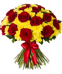 "Bouquet from цветов ""Rubies in Amber"" with delivery in Rostov-on-Don 50 - 40 см."