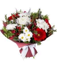 "Bouquet from цветов ""Flower Affection"" with delivery in Novosibirsk 40 - 40 см."