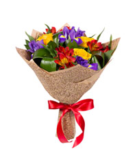 """Букет из цветов """"Голубые огоньки"""" с доставкой по Краснодару 25 - 35 см."""