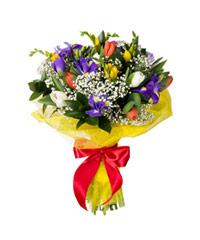 """Букет из цветов """"Цветочный калейдоскоп"""" с доставкой по Калининграду 20 - 35 см."""