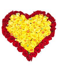 """Сердце из роз """"Красота  сердца"""" с доставкой по Казани"""