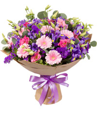 "Bouquet from цветов ""Evening Lake"" with delivery in Novosibirsk 45 - 35 см."