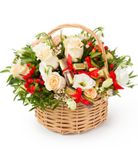"Bouquet from цветов ""Romantic Young Lady "" with delivery in Novosibirsk 22 - 25 см."