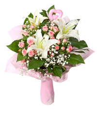 "Bouquet from цветов ""Graceful Wedding Bouquet"" with delivery in Novosibirsk 30 - 35 см."