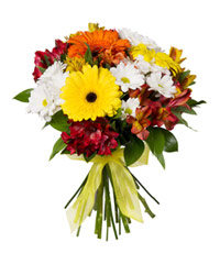 "Bouquet from цветов ""Fountain of Colour"" with delivery in Rostov-on-Don 30 - 30 см."