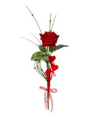 "Букет из роз Гран-При ""Любил. Люблю. Люби́м"" с доставкой по Новосибирску"