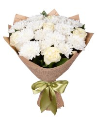 "Bouquet from цветов ""Cream Marshmallows"" with delivery in Rostov-on-Don 30 - 40 см."