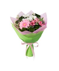 "Bouquet from цветов ""Pink Cheeks"" with delivery in Novosibirsk 20 - 35 см."