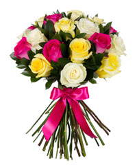 "Bouquet from цветов ""Enchanting Mix of Roses"" with delivery in Novosibirsk 30 - 40 см."