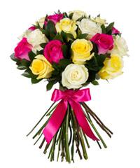 """Букет из цветов """"Ассорти из роз"""" с доставкой по Белгороду 30 - 40 см."""