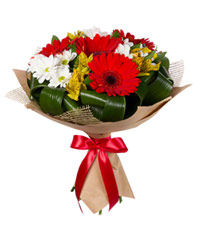 "Bouquet from цветов ""Joyful"" with delivery in Novosibirsk 25 - 35 см."