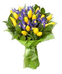 """Букет из цветов """"Летнее небо"""" с доставкой по Калининграду 25 - 30 см."""