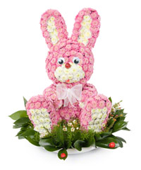 "Bouquet from цветов ""I'm Your Bunny!"" with delivery in Novosibirsk 20 - 25 см."