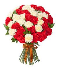 """Букет из цветов """"Вам, ветераны"""" с доставкой по Белгороду 30 - 45 см."""