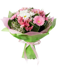 "Bouquet from цветов ""Pink Cheeks"" with delivery in Novosibirsk 25 - 35 см."