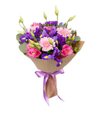 "Bouquet from цветов ""Evening Lake"" with delivery in Novosibirsk 25 - 35 см."